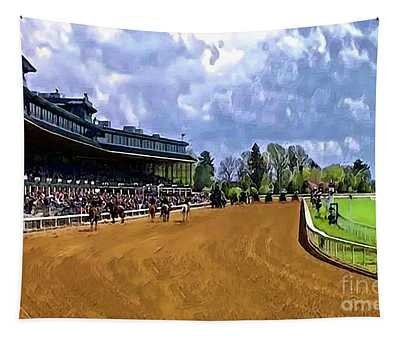 Keeneland The Stretch Tapestry