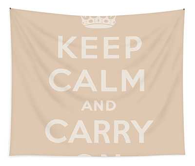 Keep Calm And Carry On, Beige Tapestry