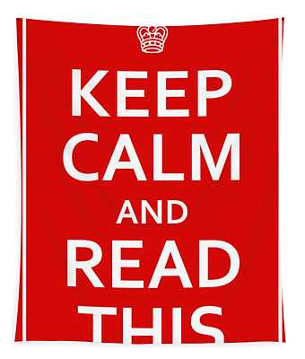 Keep Calm - Read This Tapestry