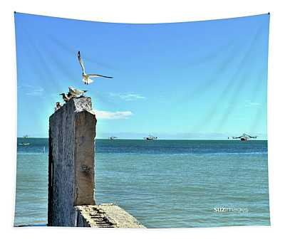 Key West Blues Tapestry