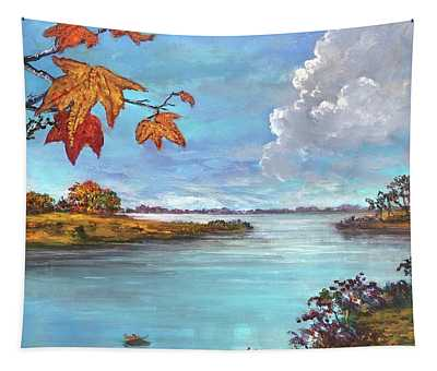 Kites, Clouds And Sailboats Tapestry