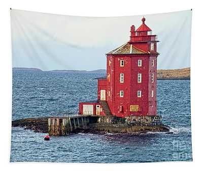 Kjeungskjaeret Fyr Lighthouse, Norway Tapestry