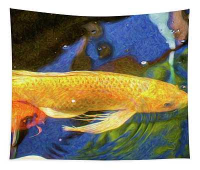 Koi Pond Fish - Best Friends - By Omaste Witkowski Tapestry