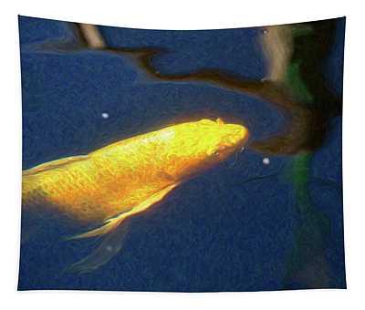 Koi Pond Fish - Golden Desires - By Omaste Witkowski Tapestry