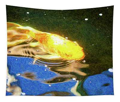 Koi Pond Fish - Golden Dreaming - By Omaste Witkowski Tapestry