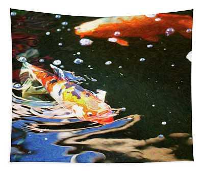 Koi Pond Fish - Making Waves - By Omaste Witkowski Tapestry