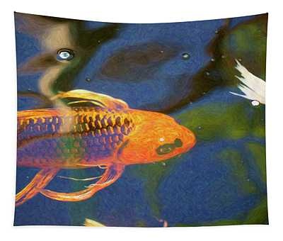 Koi Pond Fish - Picasso's Pets - By Omaste Witkowski Tapestry