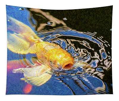 Koi Pond Fish - Pretty Pucker - By Omaste Witkowski Tapestry
