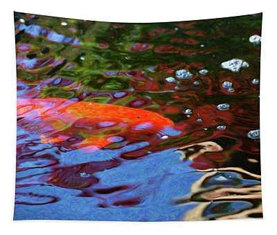 Koi Pond Fish - Random Pleasures - By Omaste Witkowski Tapestry