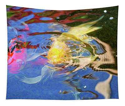 Koi Pond Fish - Swirling Emotions - By Omaste Witkowski Tapestry