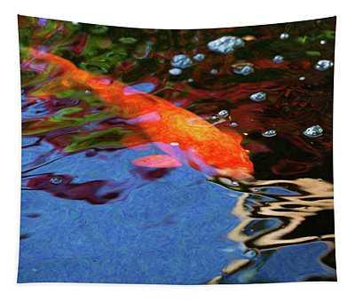 Koi Pond Fish - Vibrant Dreams - By Omaste Witkowski Tapestry