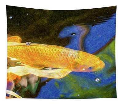 Koi Pond Fish - Winning Moves - By Omaste Witkowski Tapestry