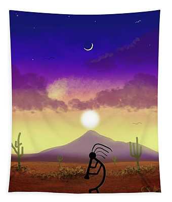 Kokopelli Dream World Tapestry