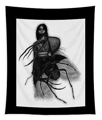 Kuchisake-onna The Slit Mouthed Woman Ghost - Artwork Tapestry