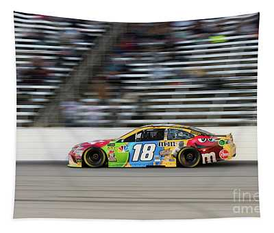 Kyle Busch At Speed Tapestry