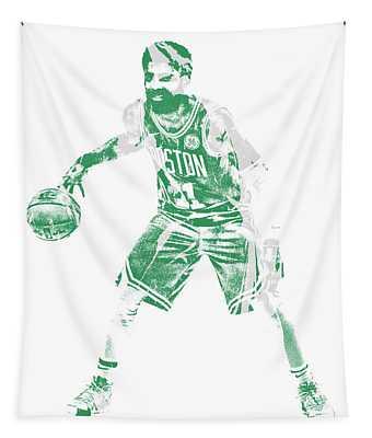 Kyrie Irving Boston Celtics Pixel Art 72 Tapestry