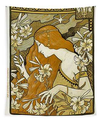 L' Ermitage Vintage French Advertising Tapestry