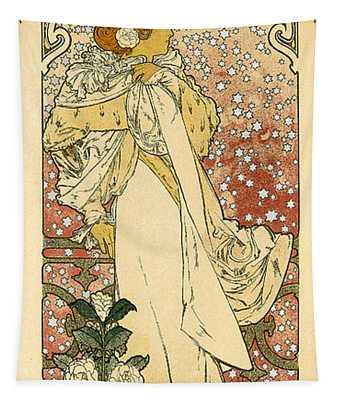 La Dame Aux Camelias Sarah Bernhardt Vintage French Advertising Tapestry