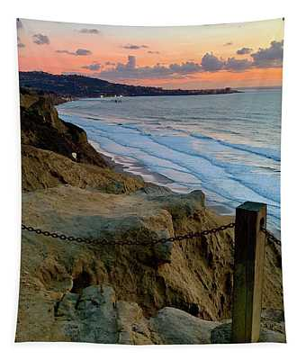 La Jolla Sunset From Torrey Pines Tapestry