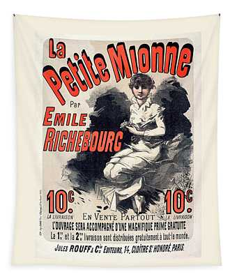 La Petite Mionne Vintage French Advertising Tapestry