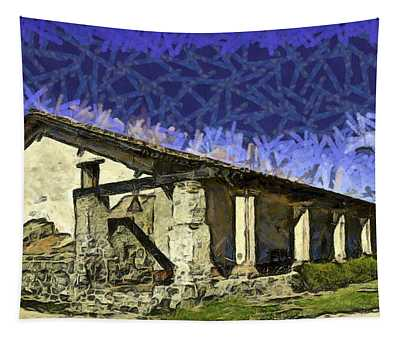 La Purisima Mission Bell Abstract Tapestry