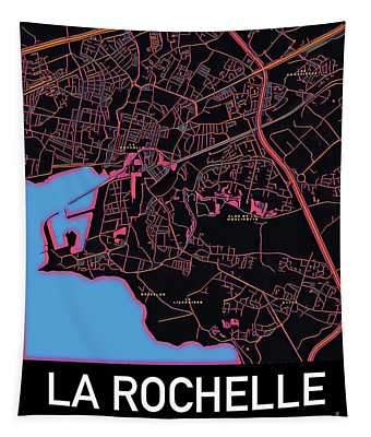 La Rochelle City Map Tapestry
