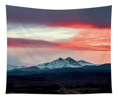 Ladies In The Sky Winter Sunset Tapestry