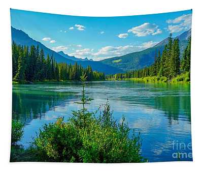 Lake At Banff Indian Trading Post Tapestry