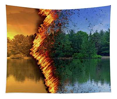 Lake Forest Fire Tapestry