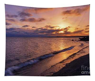 Lake Ontario Morning Reflections Tapestry