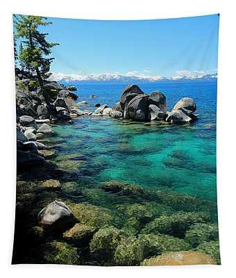 Lake Tahoe Spring Portrait Tapestry