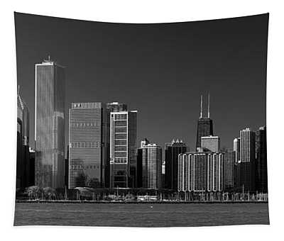 Lakefront Chicago B W Tapestry