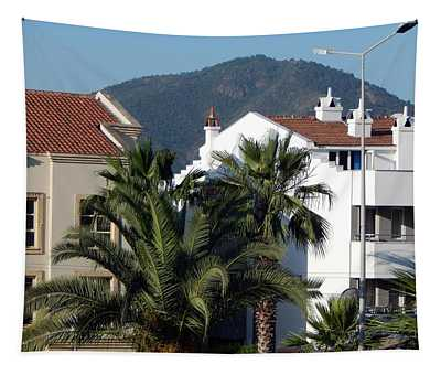 Landscape And Plants In Marmaris, Turkey Tapestry