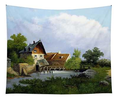 Landscape With Watermill Tapestry