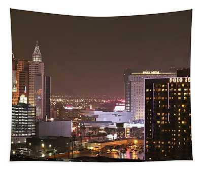 Las Vegas Cityscapes Tapestry