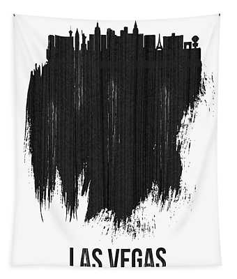 Las Vegas Skyline Brush Stroke Black Tapestry