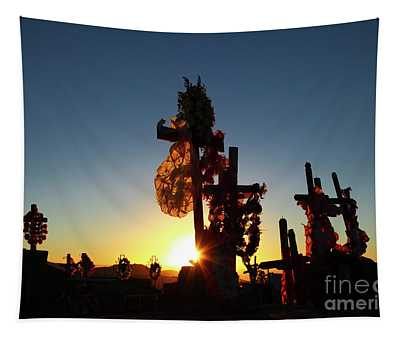 Last Light At Socaire Cemetery Chile Tapestry