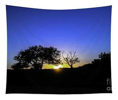 Last Light Texas Hill Country Paradise Canyon Sunset 8053a Tapestry