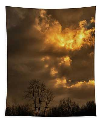 Last Sunset Of The Year Tapestry