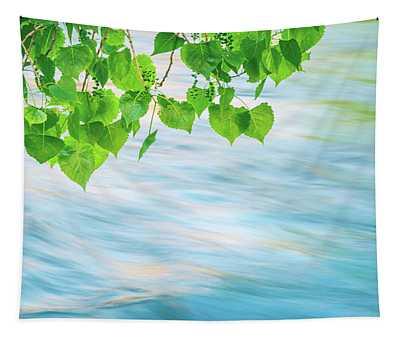 Late Spring Aspen Leaves Tapestry