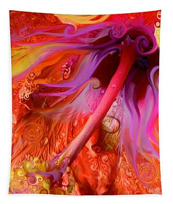 Laughing Hibiscus Tapestry