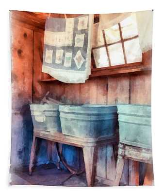 Laundry Day Wash Tubs Tapestry