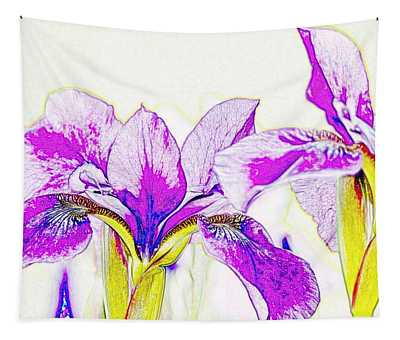 Lavender Irises Tapestry