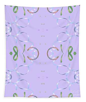 Lavender Ribbon Design Tapestry
