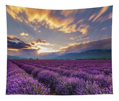 Lavender Sun Tapestry