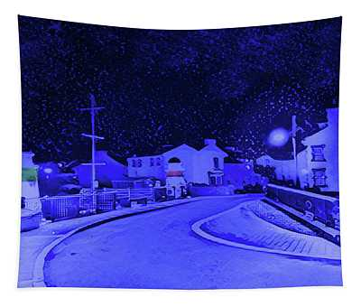 Laxey New Bridge In Snow Tapestry