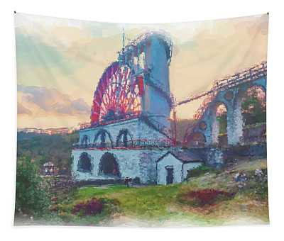 Laxey Wheel 2 Tapestry