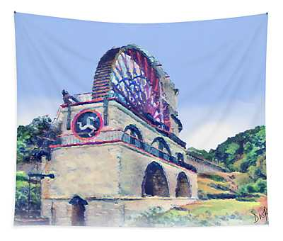 Laxey Wheel 6 Tapestry