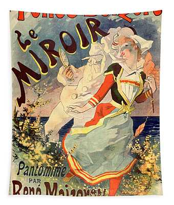 Le Miroir Pantomime Vintage French Advertising Tapestry