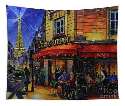 Le Recrutement Cafe Paris Tapestry